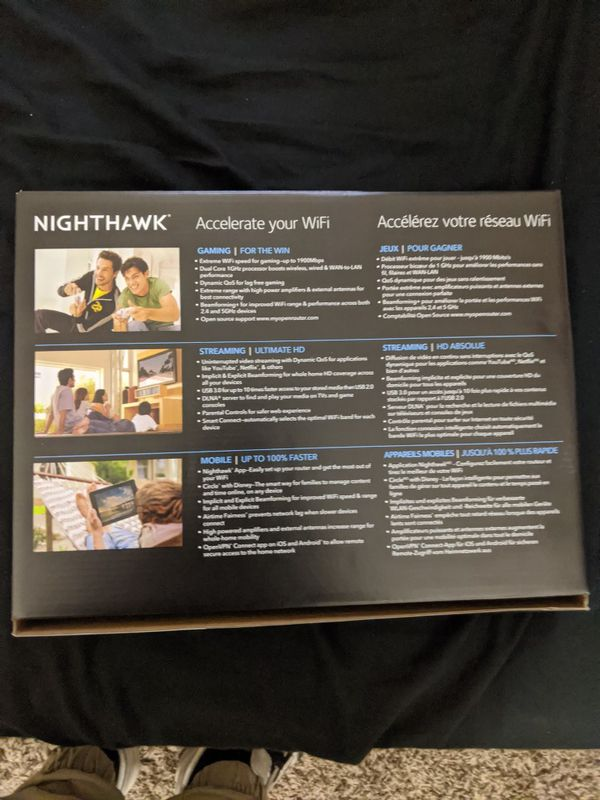 Netgear Nighthawk AC1900 smart Wifi Router gaming