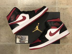 NEW Nike Air Jordan 1 Retro Mid Red Black White Basketball Mens for Sale in Buffalo, NY