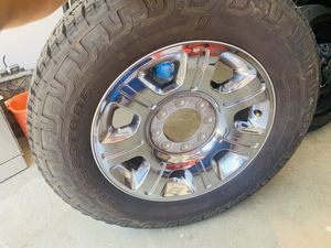 "Ford F-250 20"" Chrome Rims with Bridgestone Dueler A/T tires. for Sale in Duluth, GA"
