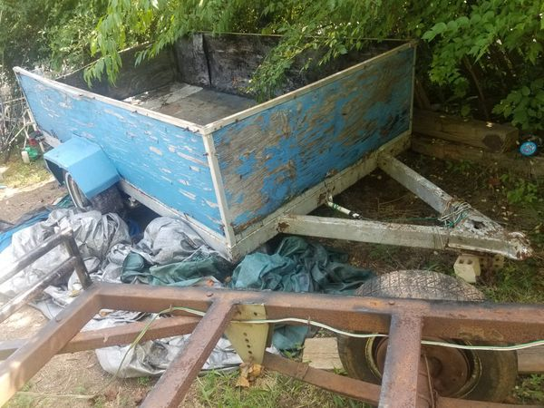 Hnder bed Steel frames others to go blue trailer