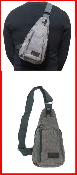 NEW! SMALL compact Canvas Side Bag Crossbody bag chest bag sling gym pouch biking hiking day pack edc backpack travel bag for Sale in Long Beach, CA
