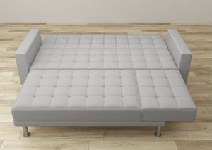 """Sleeper Sectional - Sofa Bed Aziyah 117"""" Faux Leather Reversible Sofa & Chaise for Sale in Miami, FL"""