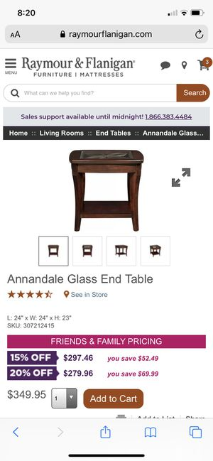 Annandale coffee table and 2 end tables from Raymour & Flanigan for Sale in Valley Cottage, NY