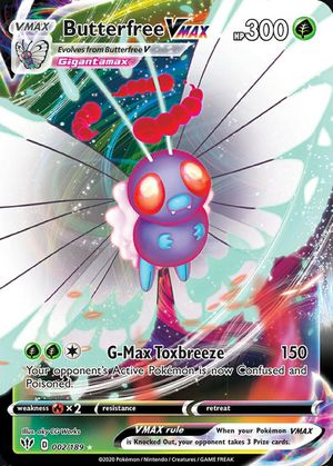 Butterfree VMAX 002/189 Darkness Ablaze Ultra Rare MINT Pokemon Card for Sale in Tomball, TX