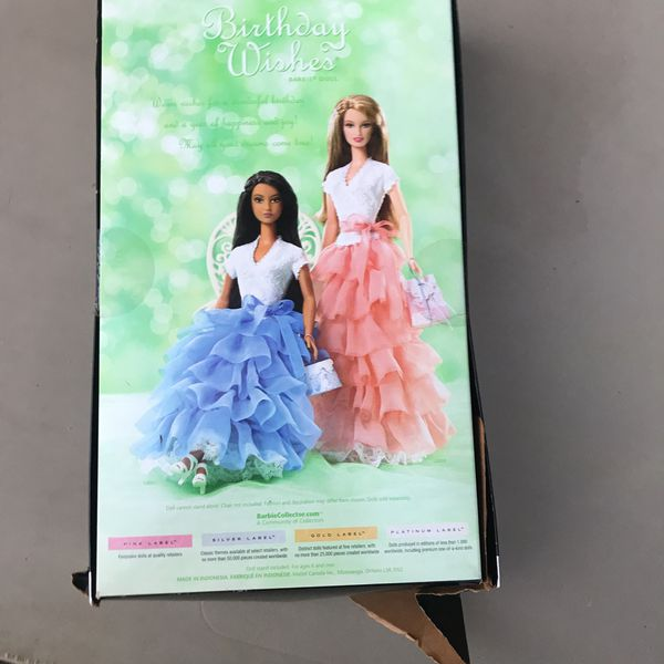 Collector Barbie Doll, Birthday wishes