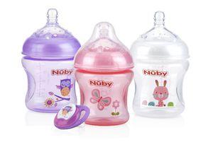 Nuby baby girl pink purple bottles biberones for Sale in South Gate, CA