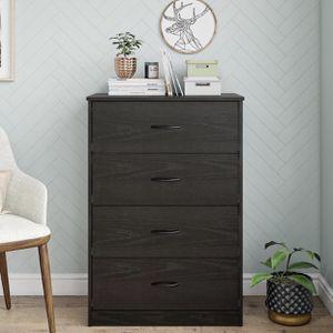 Brand New Contemporary 4-Drawers Dresser Organizer Console in Black Oak Finish for Sale in Chamblee, GA