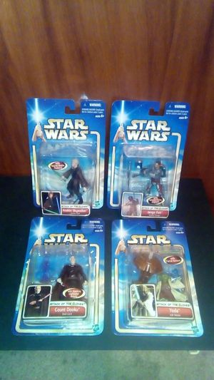 4 ct. Star Wars Attack of the Clones Figures New for Sale in Pulaski, TN