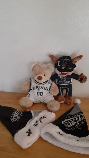 Spurs Build A bear, Spurs Coyote, Spurs Xmas Hats Rampage Mascot for Sale in San Antonio, TX