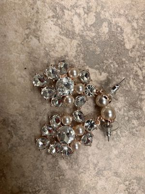 Pearl and Diamonds Earrings for Sale in Fresno, CA