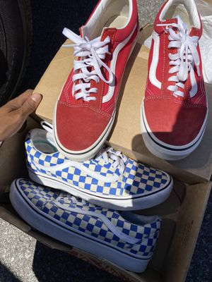 Blue vans Sz 11.5 Red 10.5 45$ a Pop for Sale in Columbus, OH
