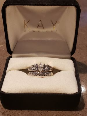 Diamond and White Gold Wedding/Engagement Ring Set for Sale in Columbia, MD