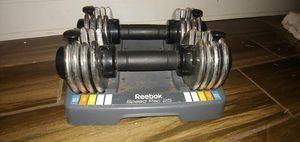 Reebok 25 lb adjustable dumbbells set for Sale in Apollo Beach, FL