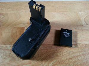 Nikon DSLR camera battery and grip D5000 D3000 D60 D40 D40X for Sale in Orange, CA