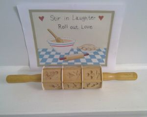 Vintage Cookie Cutter Rolling Pin for Sale in Frederick, MD