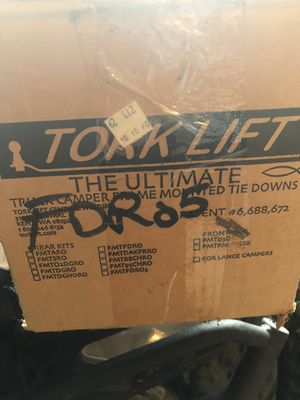 Torklift Camper tie downs for Sale in Sherwood, OR