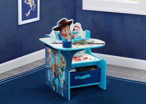 Disney/Pixar Toy Story 4 Chair Desk with Storage Bin by Delta Children for Sale in Houston, TX