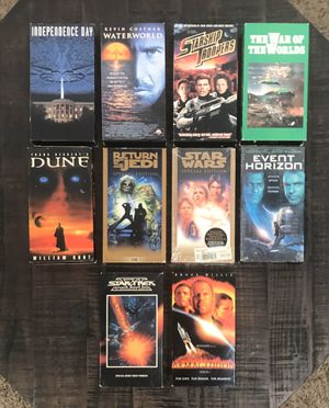 Sci Fi Science Fiction VHS movie Lot $3 each or $25 for all for Sale in Port St. Lucie, FL