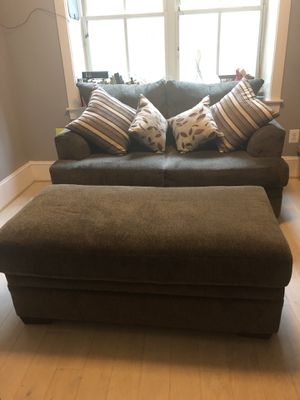Loveseat, chair and a half, storage ottoman for Sale in Washington, DC