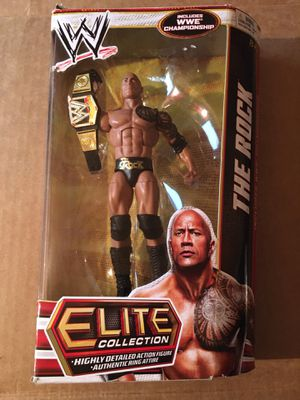 WWE The Rock Elite Series 22 Champion Wrestling Action Figure Dwayne Johnson for Sale in Las Vegas, NV