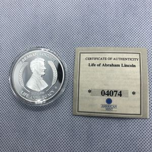 American Mint LIFE AND LEGACY Coin Medal Abraham Lincoln Gettysburg Address Abe for Sale in Bethel, CT