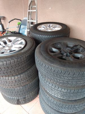 Rims and tires basically new for Sale in Hesperia, CA