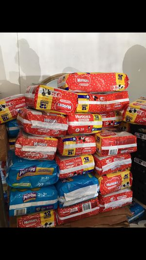 Huggies diapers size 1 thru 6 for Sale in Port St. Lucie, FL