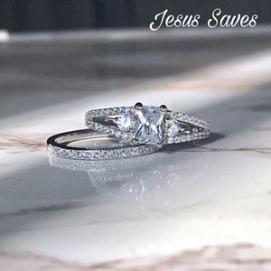 S925 Emerald Cut CZ Ring Size 6 only SRC-15765 for Sale in Fresno, CA