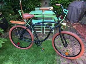 "Firmstrong ""Urban Man"" Alloy Single Speed 26"" Beach Cruiser Bike (Custom 1970's skateboard ""Gold"" edition) for Sale in Portland, OR"