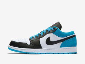 Nike Air Jordan 1 Low SE Black Laser Blue White Men Shoes AJ1 Size 15 for Sale in Lindon, UT