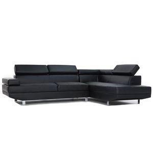 Brand New! Black Leather Luxury Sectional for Sale in Orlando, FL