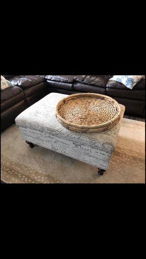 Decorative Storage Ottoman for Sale in Norco, CA