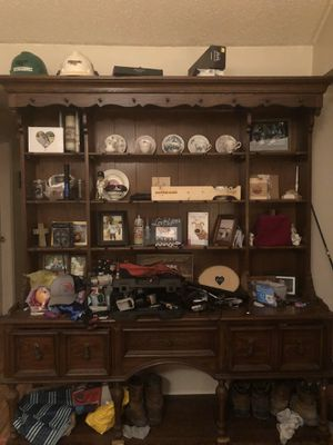 Antique hutch two pieces for Sale in Mulberry, FL