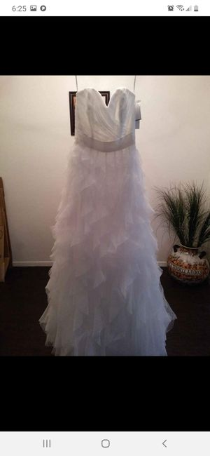Size 4 Galina Signature wedding dress never worn for Sale in Abilene, TX
