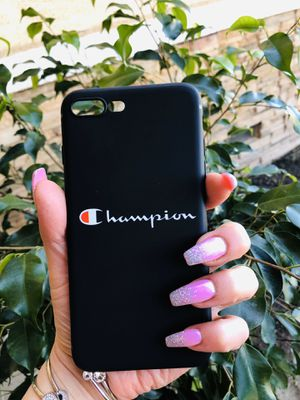 Brand new cool iphone 7+ or 8+ PLUS case cover rubber champion mens guys hypebeast hype swag fashion designer for Sale in San Bernardino, CA