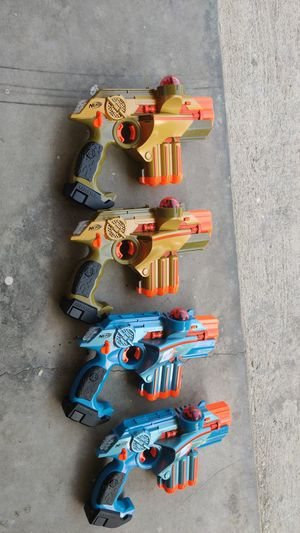2 pair Nerf laser tag for Sale in Lehigh Acres, FL