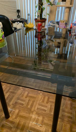 Free table with glass for Sale in Los Angeles, CA