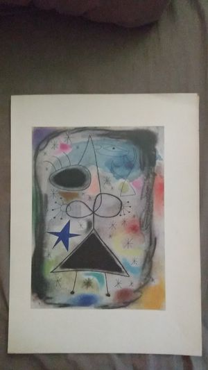 """Joan Miro 1940s lithograph of the """"Woman in the night"""" for Sale in Winter Haven, FL"""