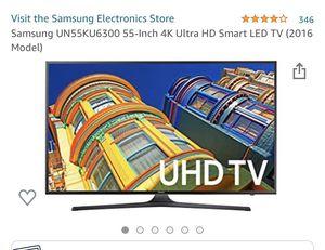 "Samsung UHD 4K HDR Smart TV - KU6300 55"" inch for Sale in Seattle, WA"