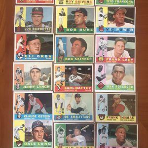 ** (225) 1960 TOPPS BASEBALL CARDS * GREAT STARTER SET * for Sale in Lafayette, CA