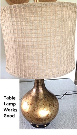 """32"""" tall lamp. . in Delray Beach.. .MAKE OFFER.. Tall side table bedroom night stand dresser chest . Single lamp. Gilded bronze finish. This lamp WOR for Sale in Delray Beach, FL"""