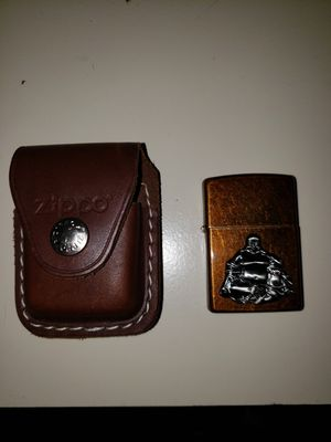 Zippo and leather case for Sale in Pawtucket, RI