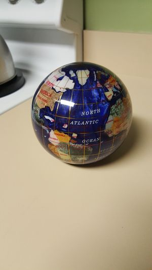 Blue Lapis World Globe Paperweight for Sale in Daphne, AL