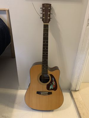 Ibanez acoustic guitar with electric pickups and harmonica for Sale for sale  New York, NY