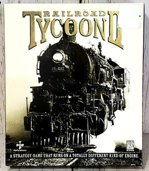 Railroad Tycoon II 2 Big Box PC Game Vintage 1998 - COMPLETE Near MINT for Sale in Harrisonburg, VA