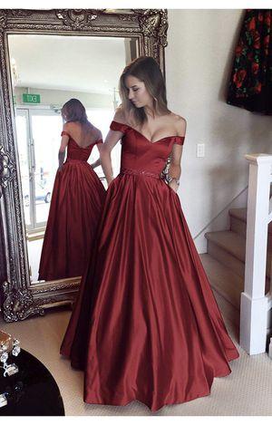 Harsuccting Off the Shoulder Beaded Satin Prom dress for Sale in Fort Washington, MD