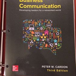 Business Communication 3rd Edition By Peter W Cardon for Sale in Portland,  OR