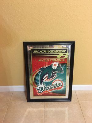 """Miami Dolphin Budweiser hanging sign 23x31"""" Beautiful for Sale in Miami, FL"""