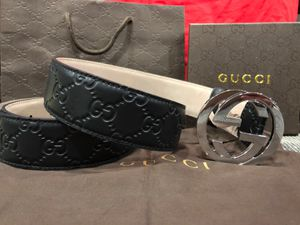 Gucci Black Leather GG Belt *Authentic* for Sale in Queens, NY
