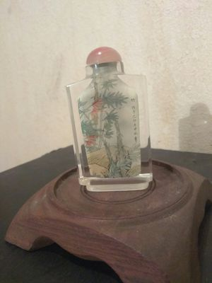 Antique Chinese Snuff Bottle, Reverse Painting Inside.. for Sale in Los Angeles, CA